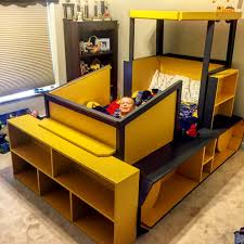 Twins Beds Diy Kids Bulldozer Twin Bed Bulldozer Bed Pinterest Twin