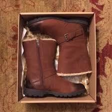 ugg australia alexandra water resistant suede wedge boot side zip ugg boots on poshmark