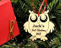 wooden rocking ornament personalized wood