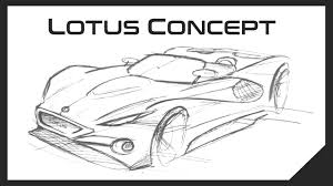 5 minute car sketch lotus concept youtube