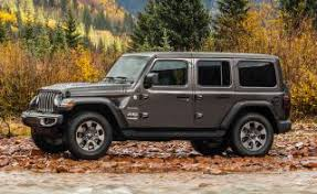 grey jeep wrangler 4 door 2018 jeep wrangler jl 4 door grey front left quarter photos 2018