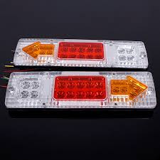 led tail lights for a trailer 2pcs 12v 19 led car truck trailer tear tail stop light indicator