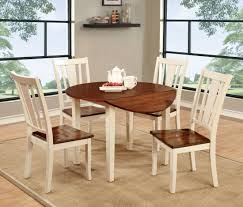 Antique Round Dining Table And Chairs Home And Furniture Dover Ii Vintage White And Cherry Drop Leaf Round Dining Table