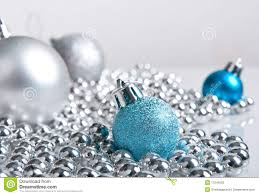 blue and silver decorations stock photo image 17241050