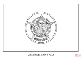 flag of minnesota coloring page free printable coloring pages