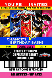 22 best pickle s 5th birthday power rangers images on pinterest power rangers birthday invitation