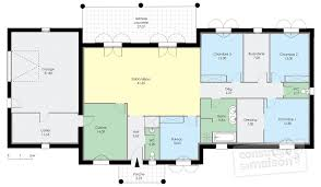 plan maison contemporaine plain pied 3 chambres plan maison contemporaine top maison