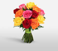 colored roses rainbow roses mixed colored roses bouquet sending flowers