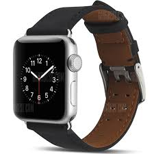 apple watch 3 indonesia gearbest usa genuine leather buckle wrist watch strap band belt for