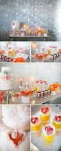 Coral Wedding Centerpiece Ideas by Coral And Orange Chevron Wedding Decor Ideas Junebug Weddings