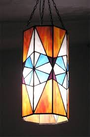 octagon stained glass window ceiling lamps novus stained glass