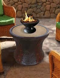 rattan bistro gas propane fire pit table u2013 fire pit plaza