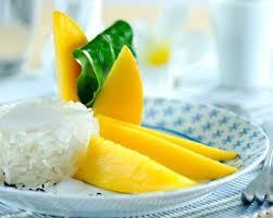 cuisiner mangue recette riz gluant au lait de coco et à la mangue
