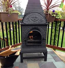 Cooking On A Chiminea Casita Grill Outdoor Fireplace Chiminea From The Bluerooster