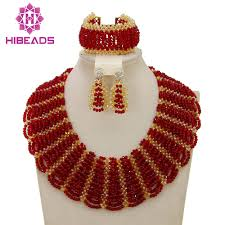 beads wedding necklace images Luxurious african orange coral beads jewelry sets nigerian wedding jpg