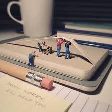 Miniature by Derrick Lin Recreates His Office Life With Miniature Figures
