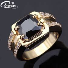 men rings wholesale images Wholesale male of ring aaa black sapphire yellow gold men jewelry jpg