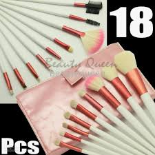 wholesale pro makeup cosmetic brushes pink set pony goat hair