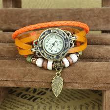 vintage leather bracelet watches images 2018 women watches leather bracelet watch woman dress vintage leaf jpg