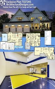 Home Plans With Master On Main Floor 45 Best House Plans With Sport Courts Images On Pinterest Dream