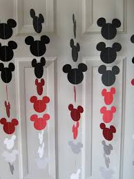 mickey mouse decorations black and white mouse style garland strand birthday party