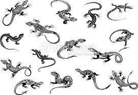 black lizards reptiles for tattoo design vector art thinkstock