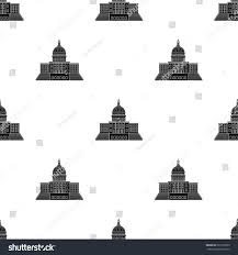united states capitol icon black style stock vector 622797263