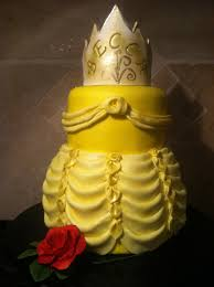 belle u0027s dress beauty and the beast birthday cake youtube