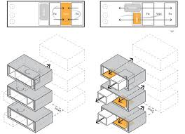 House Schematics by Tehran U0027s Next Office Designs A House That Swivels In And Out On