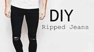 Ripped Knee Jeans Mens Diy Ripped Jeans Ootd Men U0027s Fashion Street Style