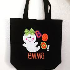 personalized girly ghost trick or treat bag u2013 thetinycloset