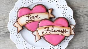 valentines day cookies how to make a tattoo style heart cookie easy s day