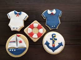Nautical Theme Babyshower - nautical themed baby shower cookies cakecentral com
