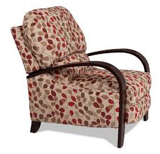 camas wood arm recliner floral levin furniture