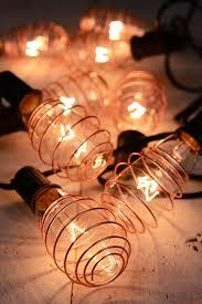 vintage lighting copper plated edison bulb light set 10
