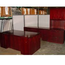 dallas office furniture wood desk set with file and hutch new