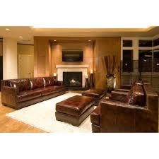 Saddle Brown Leather Sofa Best Saddle Leather Ottoman Products On Wanelo