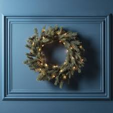 blue spruce artificial wreath by lights4fun
