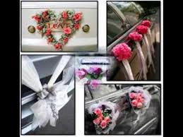 How To Decorate A Wedding Car With Flowers Diy Wedding Car Decoration Youtube