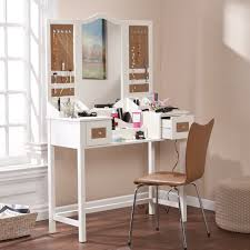 Makeup Vanity Mirror Bedroom Impressive White Wall And Dazzling White Modern Makeup