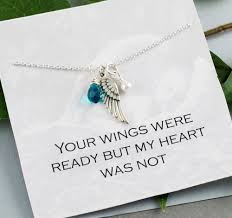 baby remembrance jewelry silver angel wing necklace miscarriage necklace angel baby