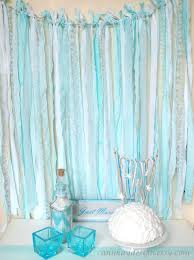tulle backdrop fabric garland rag streamer backdrop with mint and striped fabric