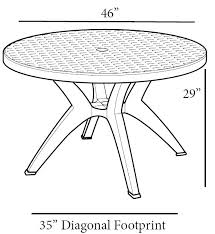folding patio table with umbrella hole resin patio table with umbrella hole best value outdoor round resin