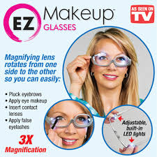 magnifying eyeglasses with light as seen on tv ez makeup glasses w magnifying lens from collections etc