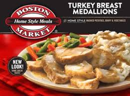 turkey breast medallions boston market frozen meals