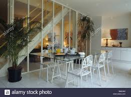Modern Dining Room Chairs In Glass Table And White