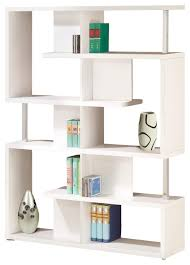 Chrome Bookshelves by Modern White Black Finish Bookcase W Compartments Chrome Support