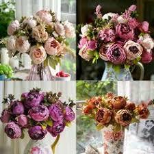 Fake Peonies Diy Artificial Peony Flower Heads Multicolor Road Lead Wedding