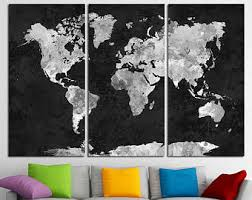 Map Wall Decor by Map Wall Decor Etsy