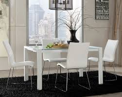 white dining room set white leather dining room set affordable white leather dining